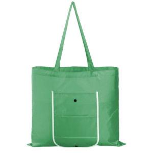 Складная сумка Unit Foldable, зеленая полиэстер