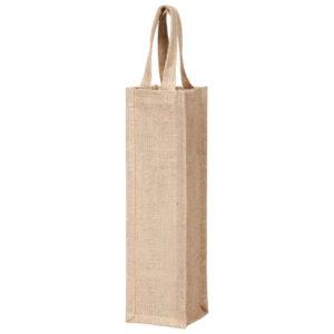 Холщовая сумка-чехол для бутылки вина