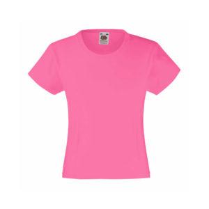 Футболка для девочек GIRLS VALUEWEIGHT, розовая