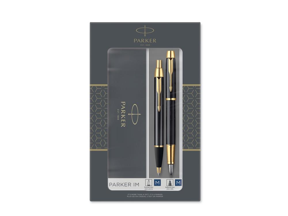 Набор Parker IM Core Black GT: ручка шариковая, ручка перьевая
