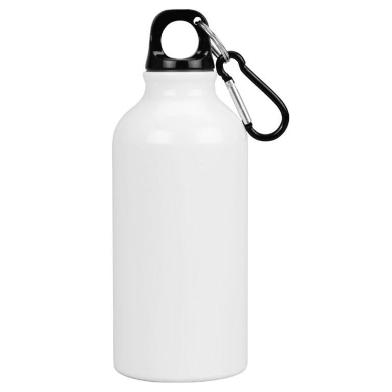 Бутылка металл белая