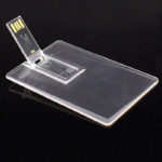 Флешка-кредитка, пластик прозрачный