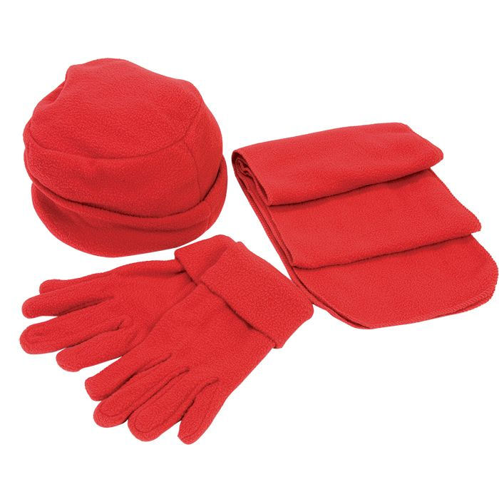 Флисовый набор Метель шапка, шарф, перчатки