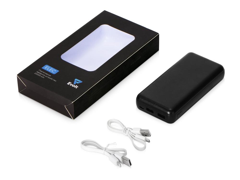 Портативное зарядное устройство «Elec», 20000 mAh