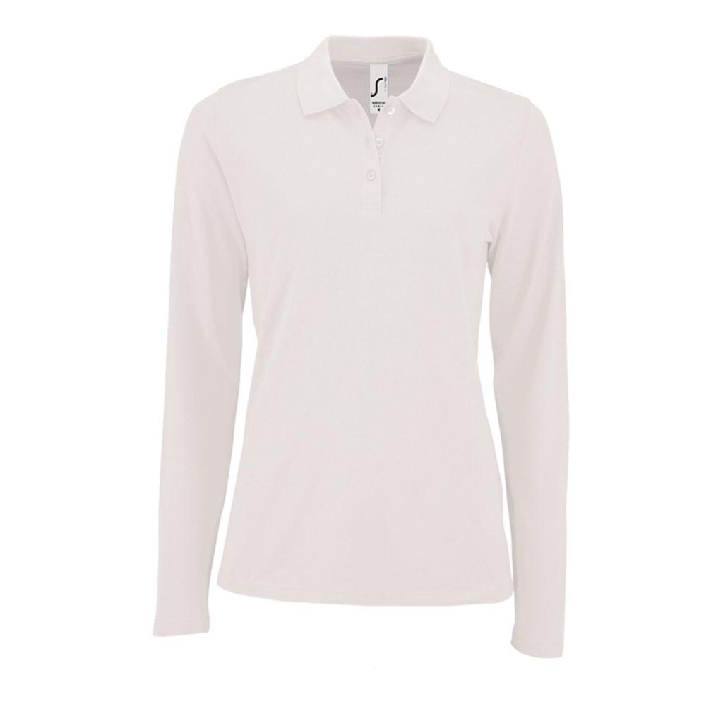 Рубашка поло женская с длинным рукавом PERFECT LSL WOMEN, 180 гр