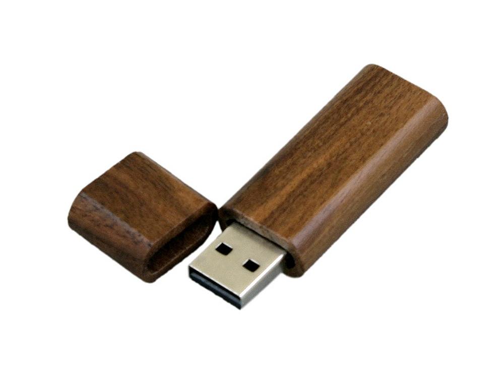USB-флешка эргономичной прямоугольной формы с округленными краями