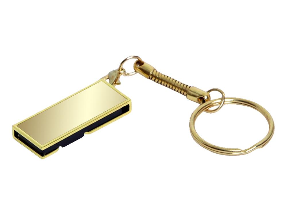 USB-флешка с поворотным механизмом и зеркальным покрытием