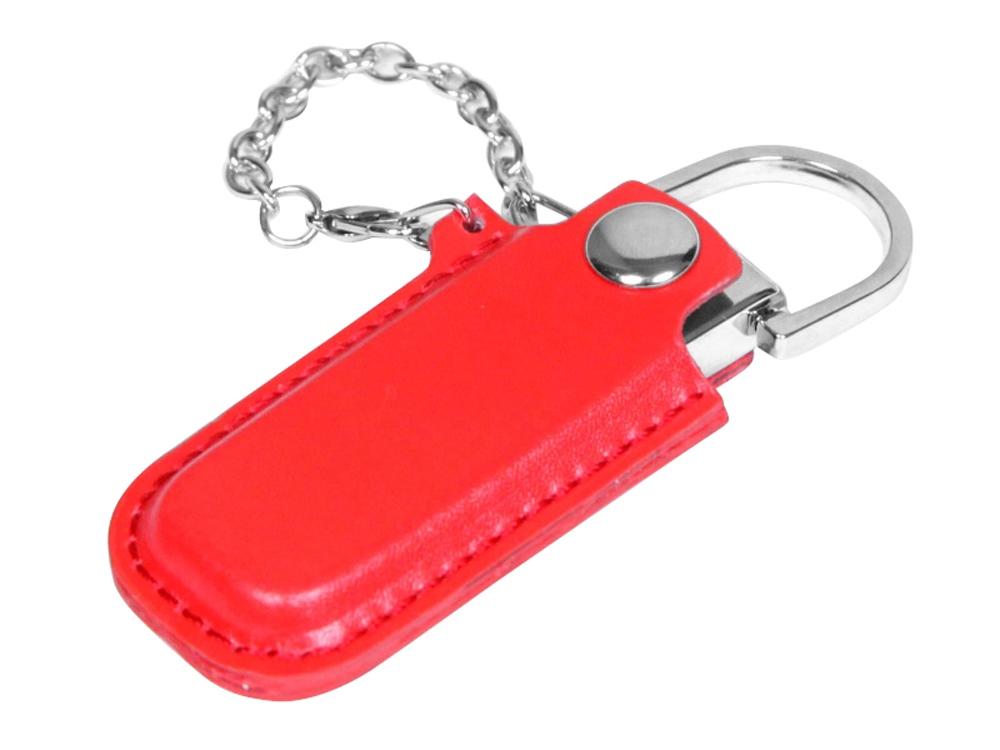 USB-флешка в массивном корпусе с кожаным чехлом