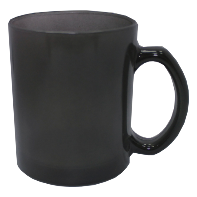 Кружка-хамелеон, стеклянная, черная