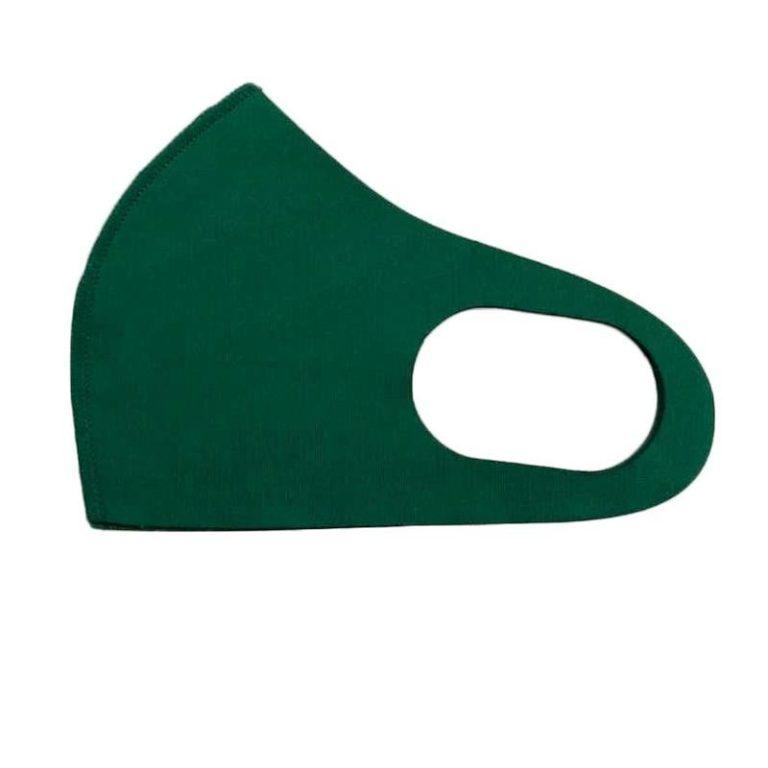 Маска многоразовая из неопрена зеленая