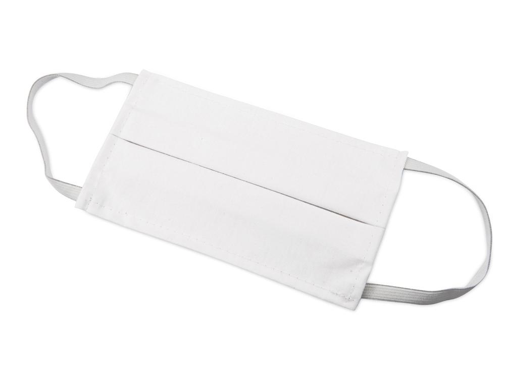 Маска для лица многоразовая из хлопка, белый