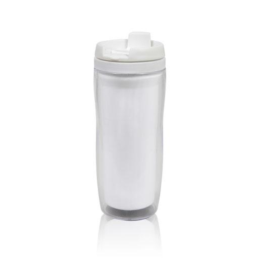 Термостакан с пластиковой колбой для рекламных вставок