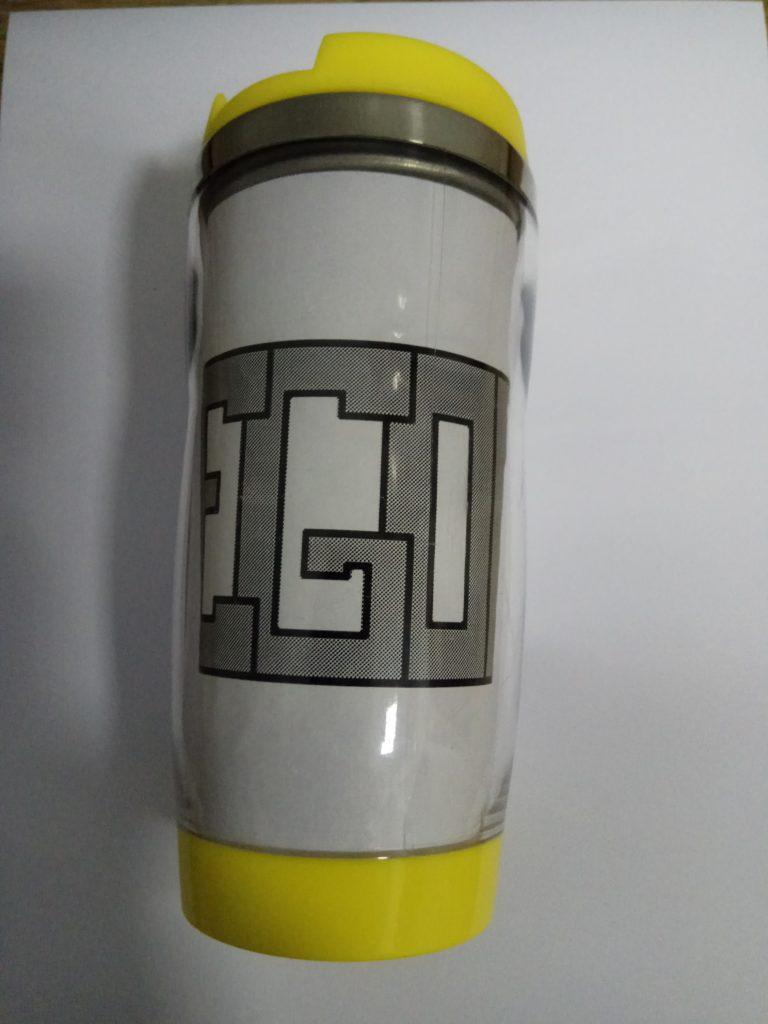 Термостакан с металлической колбой для рекламных вставок